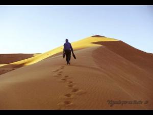 Es en la inmensidad del desierto, cuando uno inevitablemente se da cuenta de la pequeñez del ego.