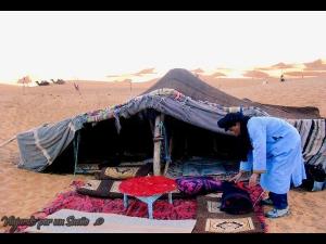 Dormir en una Jaima en el desierto, es una experiencia inolvidable!